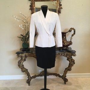 TAHARI Vintage Shawl Collar Wrap Coat Dress